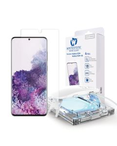 Whitestone Dome Glass (Liquid Dispersion Tech) Full Cover Tempered Glass Screen Protector (Samsung Galaxy S20 Plus)