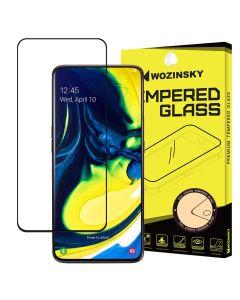 Wozinsky Full Glue Full Face Case Friendly Black Αντιχαρακτικό Γυαλί 9H Tempered Glass (Samsung Galaxy A80)