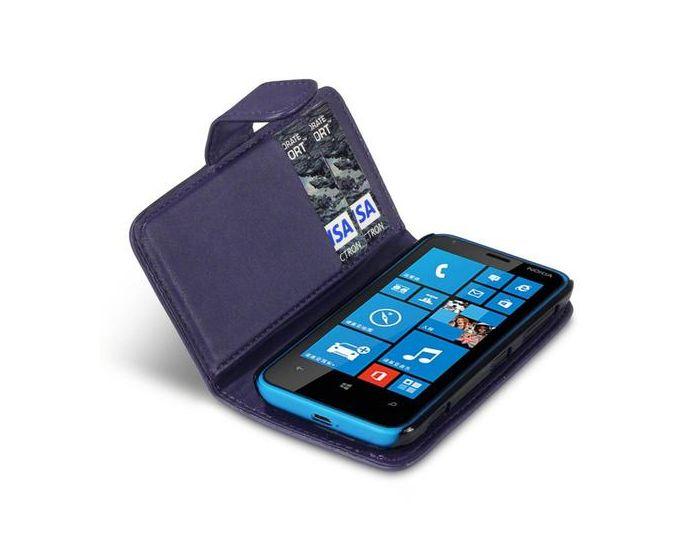 Qubits Θήκη Πορτοφόλι Wallet Case (117-001-179) Μωβ (Nokia Lumia 620)