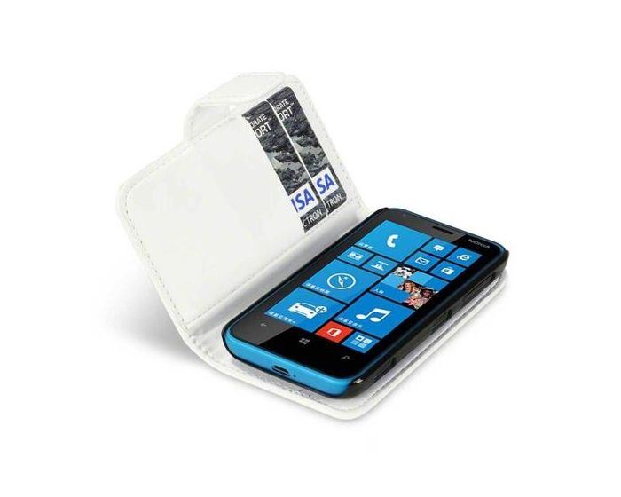 Qubits Θήκη Πορτοφόλι Wallet Case (117-001-181) Λευκό (Nokia Lumia 620)