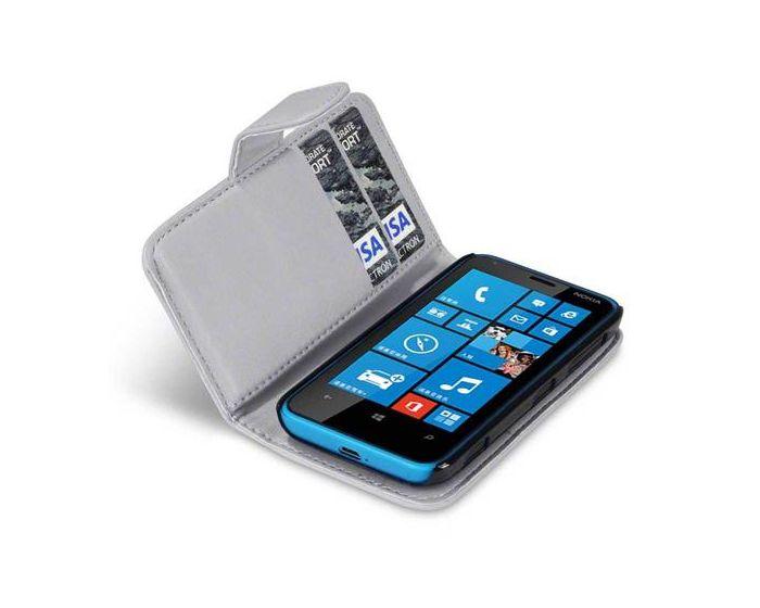 Qubits Θήκη Πορτοφόλι Wallet Case (117-001-184) Γκρι (Nokia Lumia 620)