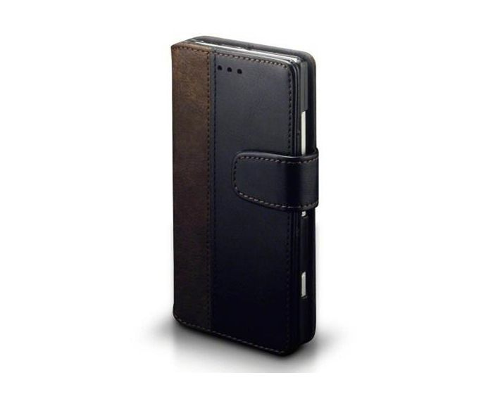 Covert Θήκη Πορτοφόλι Stand Case (117-001-246) Μαύρο-Καφέ (Nokia Lumia 830)
