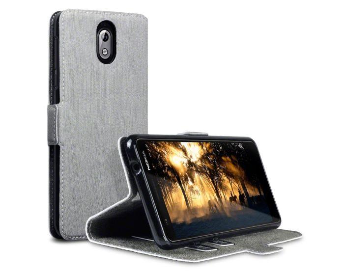 Terrapin Θήκη Πορτοφόλι Stand Case (117-001-291) Γκρι (Nokia 3.1 2018)