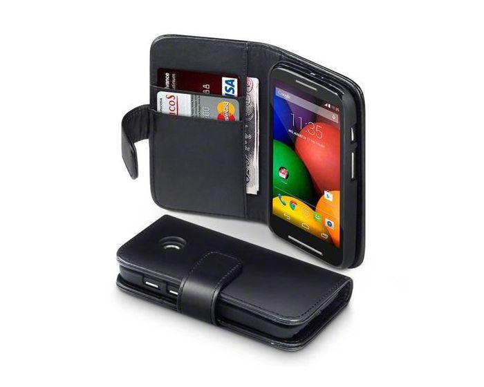 Terrapin Δερμάτινη Θήκη Πορτοφόλι Wallet Case (117-003-017) Μαύρο (Motorola Moto E)