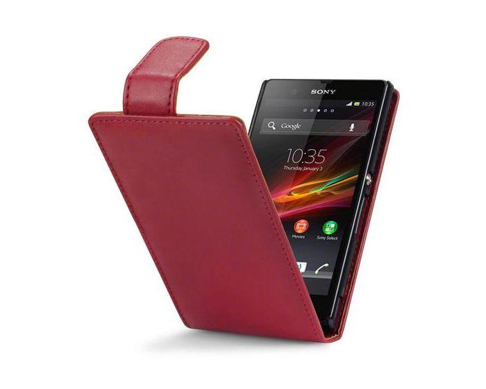Qubits Θήκη Πορτοφόλι Flip Wallet Case (117-005-204) Κόκκινο (Sony Xperia Z)