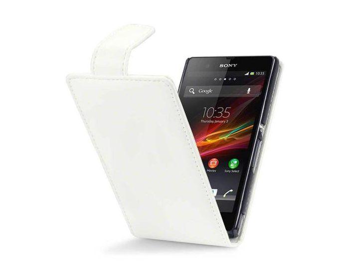 Qubits Θήκη Πορτοφόλι Flip Wallet Case (117-005-205) Λευκή (Sony Xperia Z)