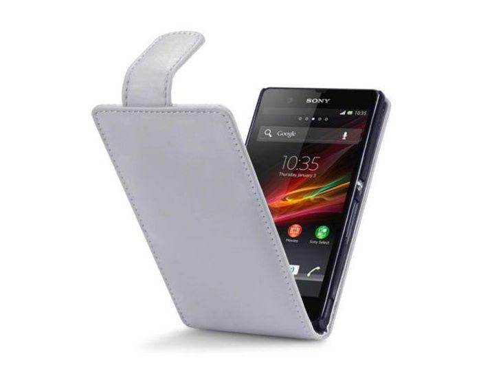 Qubits Θήκη Πορτοφόλι Flip Wallet Case (117-005-208) Γκρι (Sony Xperia Z)