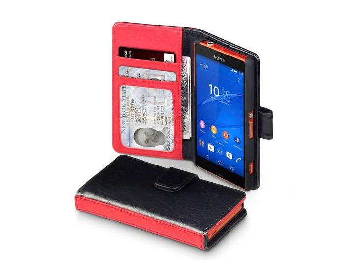 Covert Δίχρωμη Θήκη Πορτοφόλι (117-005-321) Μαύρη (Sony Xperia Z3 Compact / mini)