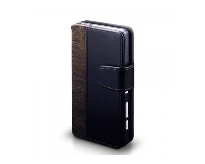 Covert Θήκη Πορτοφόλι Stand Case (117-005-392) Μαύρο-Καφέ (Sony Xperia Z5 Compact)