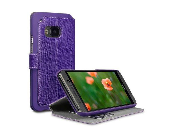 Covert Θήκη Πορτοφόλι Stand Case (117-028-248) Μωβ (HTC One M9)