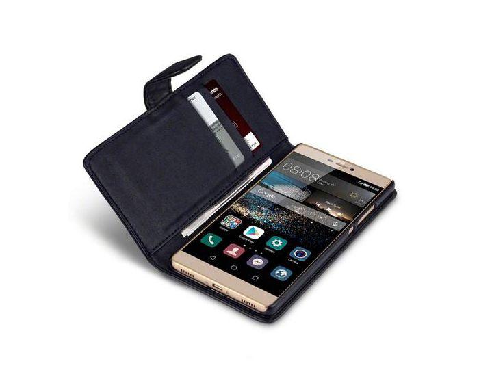 Qubits Θήκη Πορτοφόλι Wallet Case (117-083-022) Black (Huawei Ascend P8)