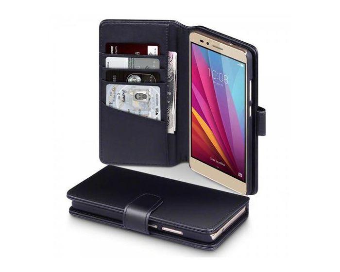 Terrapin Δερμάτινη Θήκη Πορτοφόλι Wallet Case(117-083-047) Μαύρο (Huawei Honor 5X)