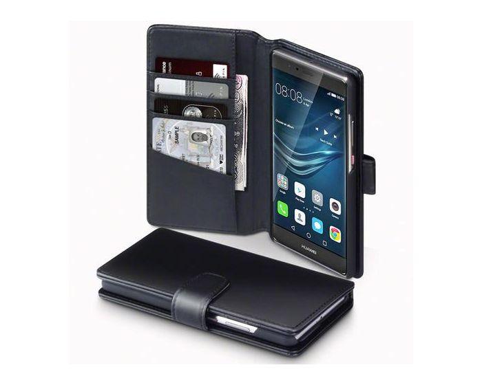 Terrapin Δερμάτινη Θήκη Πορτοφόλι Wallet Case (117-083-062) Μαύρο (Huawei P9 Plus)