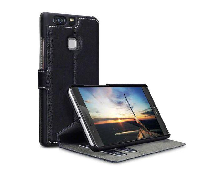 Covert Θήκη Πορτοφόλι Stand Case (117-083-063) Μαύρο (Huawei P9 Plus)