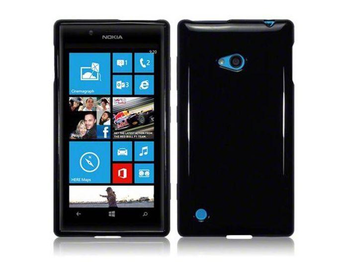 Terrapin Θήκη Σιλικόνης Slim Fit Silicone Case (118-001-173) Μαύρη (Nokia Lumia 720)