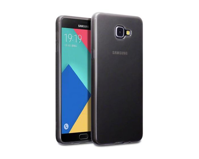 Terrapin Θήκη Σιλικόνης Slim Fit Silicone Case (118-002-522) Ημιδιάφανη Μαύρη (Samsung Galaxy A9 II - 2016)