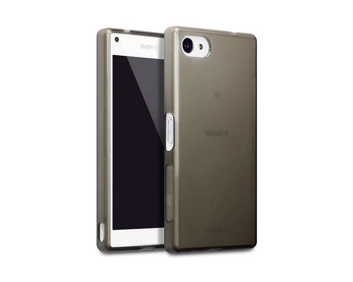 Terrapin Θήκη Σιλικόνης Slim Fit Silicone Case (118-005-244) Ημιδιάφανη Μαύρη (Sony Xperia Z5 Compact)