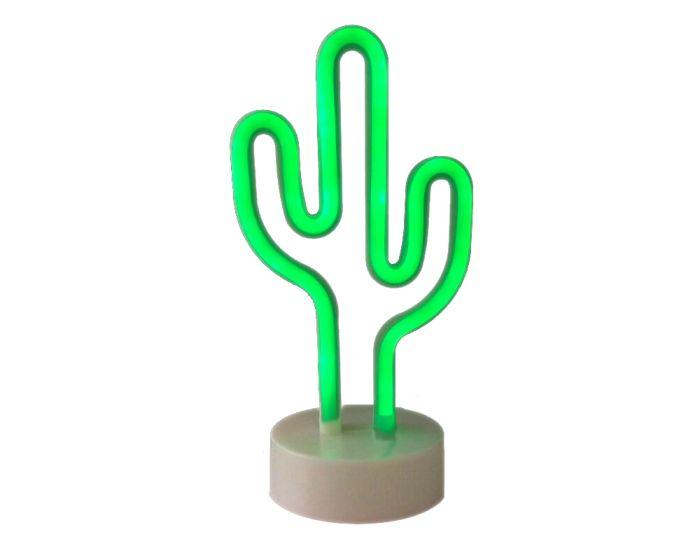 ACA 45 Neon LED Light Φωτιστικό Κάκτος - Πράσινο