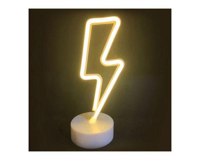 ACA 34 Neon LED Light Φωτιστικό Αστραπή - Θερμό Λευκό