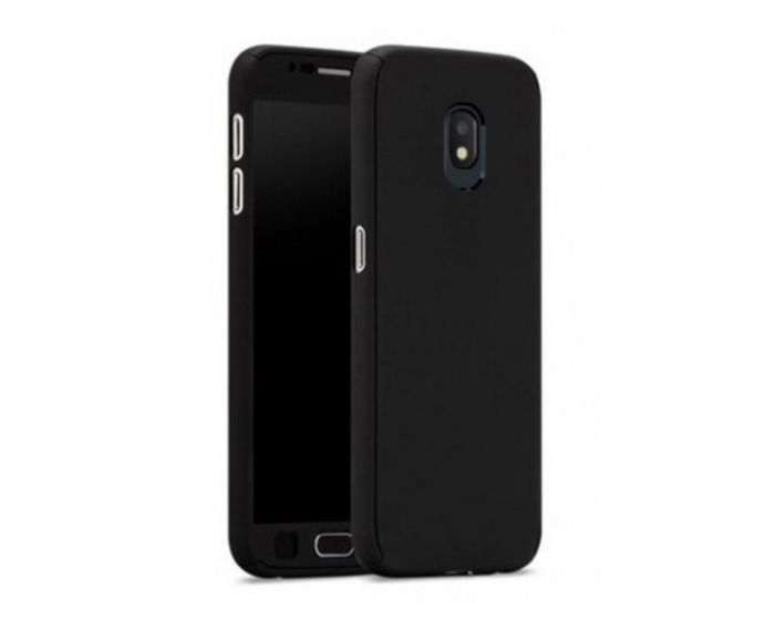 360 Full Cover Case & Tempered Glass - Black (Samsung Galaxy J7 2017)
