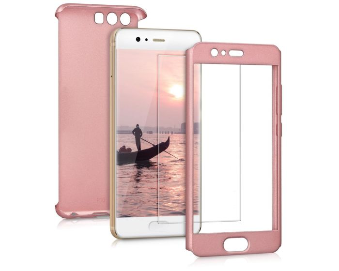 KWmobile 360 Full Cover Case & Tempered Glass (43766.31) Rose Gold (Huawei P10)