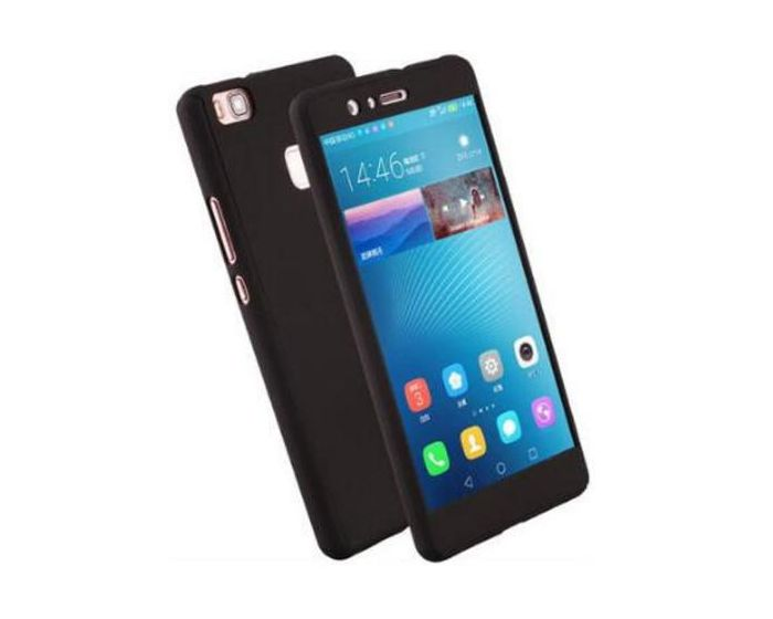 360 Full Cover Case & Tempered Glass - Black (Huawei Ascend P8 Lite)