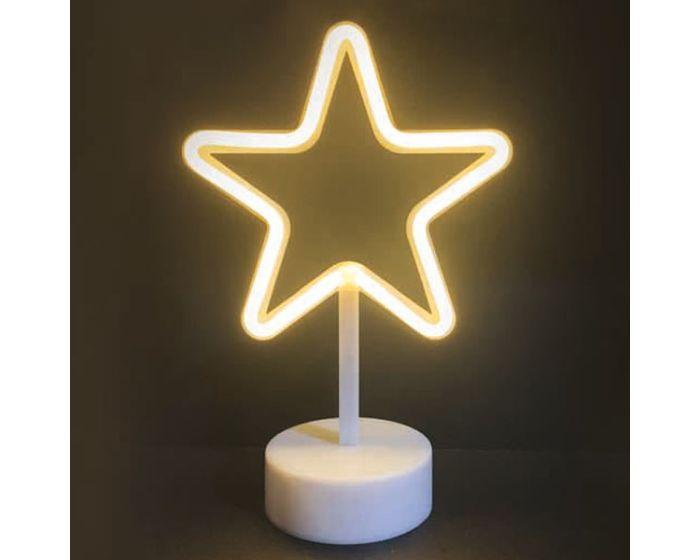 ACA 39 Neon LED Light Φωτιστικό Αστέρι - Θερμό Λευκό