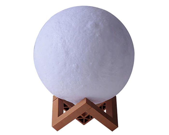 3D Moon LED Night Light 8cm Φωτιστικό με Σχήμα Φεγγαριού