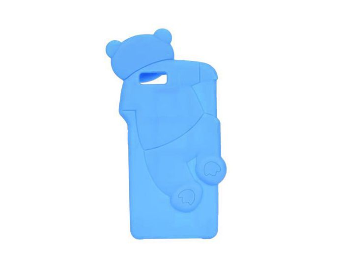 Forcell 3D Silicone Case - Θήκη Σιλικόνης Mr Bear Blue (Huawei Ascend P8 Lite)