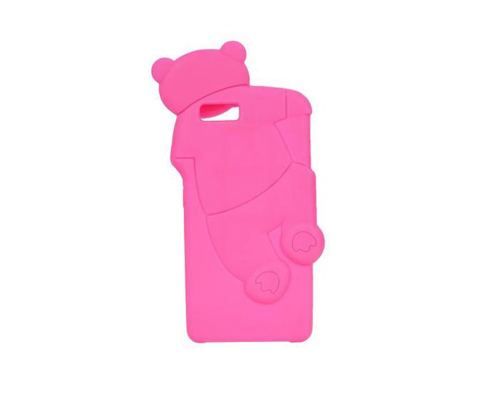 Forcell 3D Silicone Case - Θήκη Σιλικόνης Mr Bear Pink (Huawei Ascend P8 Lite)