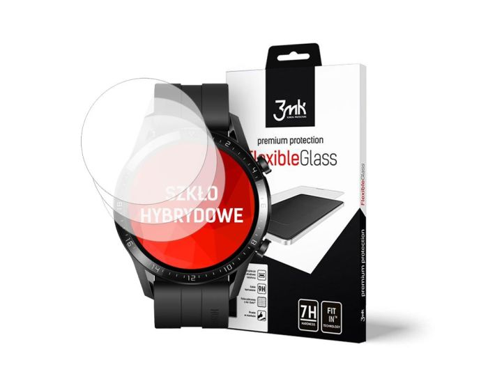 3mk Flexible 7H Tempered Glass 0.2mm 3 Τεμ. (Huawei Watch GT 2 46mm)