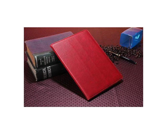 OEM Δερμάτινη Θήκη Case stand - Ρουμπινί (iPad mini / Retina)