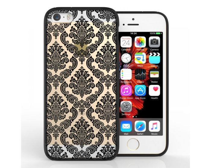 YouSave Fusion Σκληρή Θήκη με TPU Bumper Damask Black (iPhone 5 / 5s / SE)