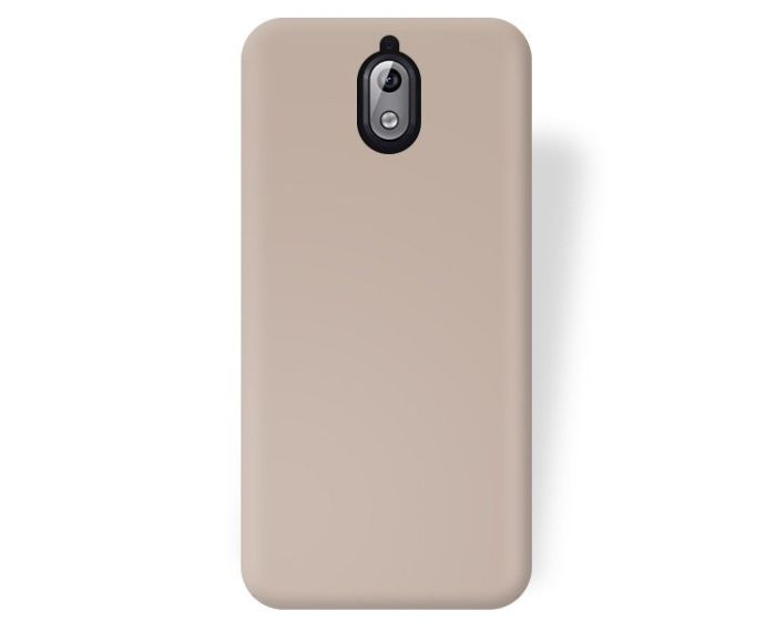 Forcell Jelly Flash Matte Slim Fit Case Θήκη Σιλικόνης Gold (Nokia 3.1 2018)