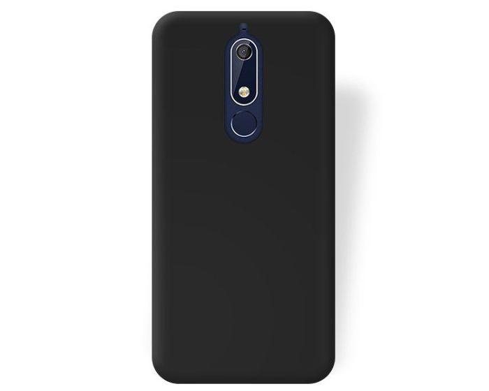 Forcell Jelly Flash Matte Slim Fit Case Θήκη Σιλικόνης Black (Nokia 5.1 2018)