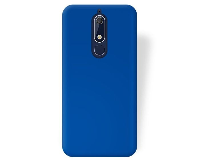 Forcell Jelly Flash Matte Slim Fit Case Θήκη Σιλικόνης Blue (Nokia 5.1 2018)