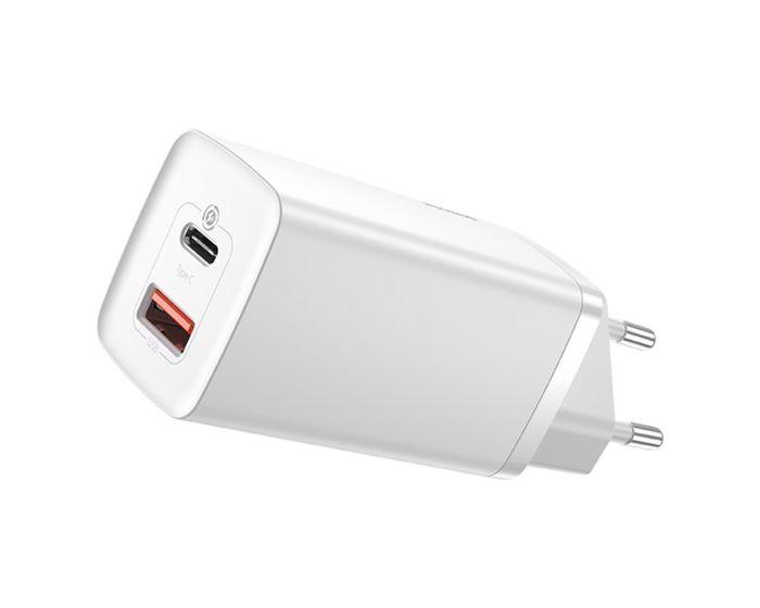 Baseus GaN2 Lite Wall Charger (CCGAN2L-B02) 65W USB / Type-C QC 3.0 PD - White