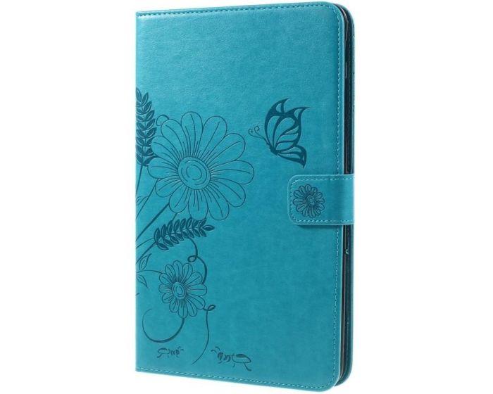 XCase Flexi Book Stand Θήκη Πορτοφόλι Blue Butterfly (Samsung Galaxy Tab E 9.6'' - T560 / T561)