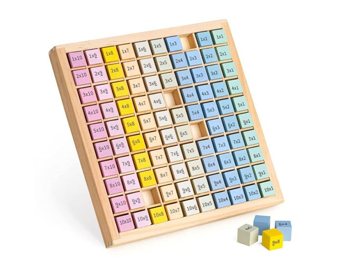 Navaris Wooden Multiplication Table Board (53312.01) Πίνακας Εκμάθησης Προπαίδειας