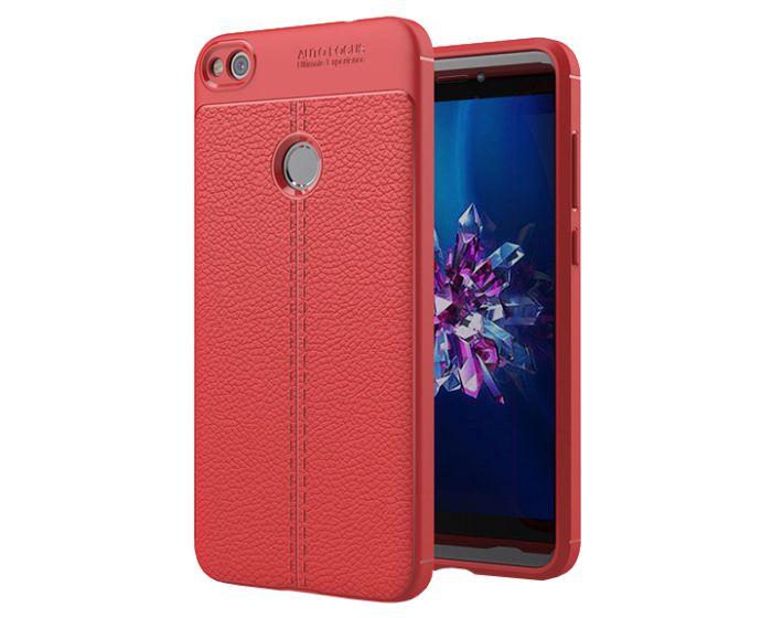 TPU Rugged Armor Football Grain Case Red (Huawei P8 Lite 2017 / P9 lite 2017 / Honor 8 Lite)