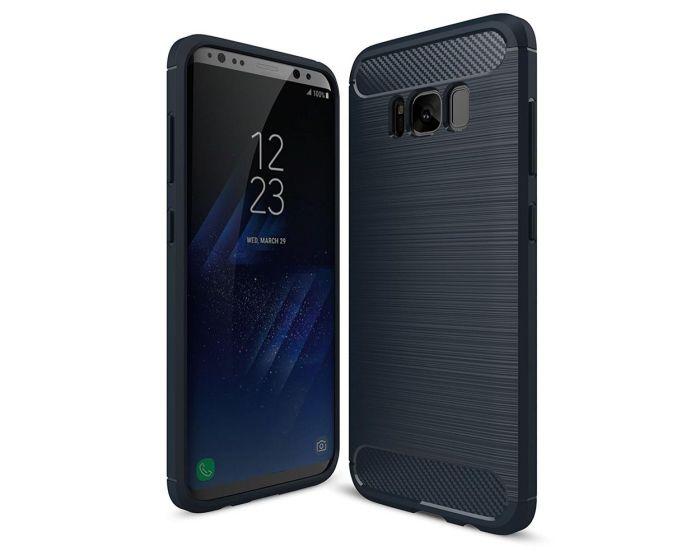 TPU Carbon Rugged Armor Case Blue (Samsung Galaxy A8 2018)
