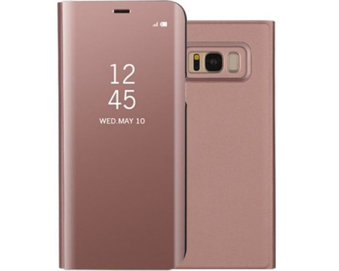 Clear View Standing Cover - Rose Gold (Samsung Galaxy S8 Plus)