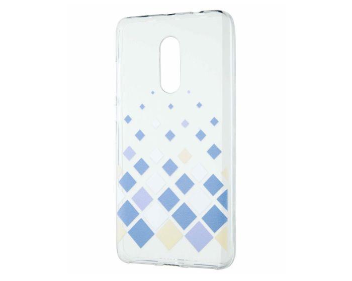Soft Silicone Fit Case - Θήκη Σιλικόνης Squares (Xiaomi Redmi Note 4 / 4X)