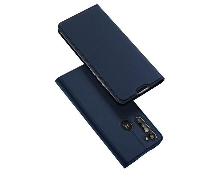DUX DUCIS SkinPro Wallet Case Θήκη Πορτοφόλι με Stand - Navy Blue (Motorola Moto G8 Power)