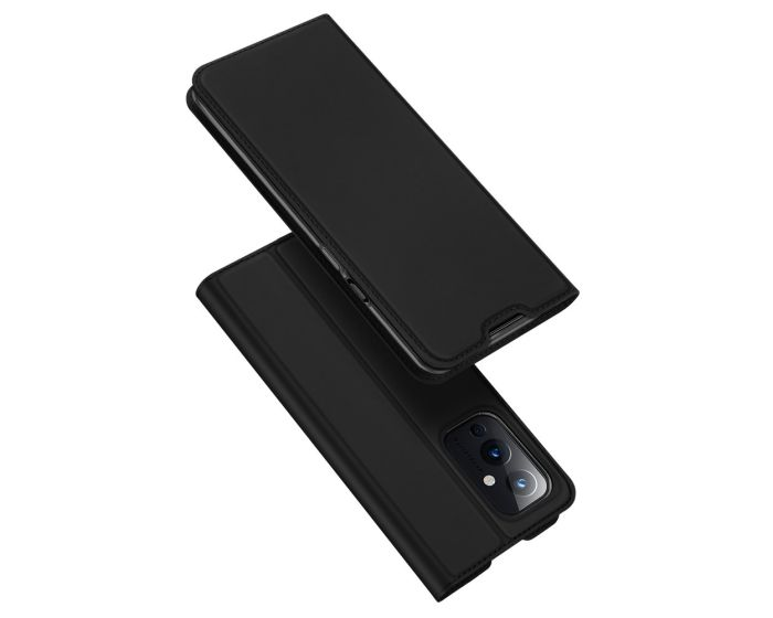 DUX DUCIS SkinPro Wallet Case Θήκη Πορτοφόλι με Stand - Black (OnePlus 9)