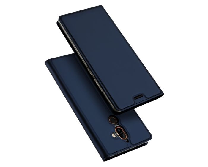 DUX DUCIS SkinPro Wallet Case Θήκη Πορτοφόλι με Δυνατότητα Stand - Navy Blue (Nokia 7 Plus)