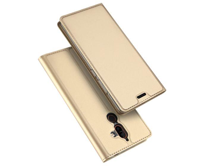 DUX DUCIS SkinPro Wallet Case Θήκη Πορτοφόλι με Δυνατότητα Stand - Gold (Nokia 7 Plus)
