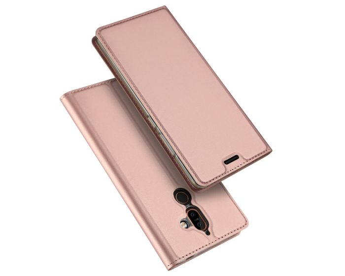 DUX DUCIS SkinPro Wallet Case Θήκη Πορτοφόλι με Δυνατότητα Stand - Rose Gold (Nokia 7 Plus)