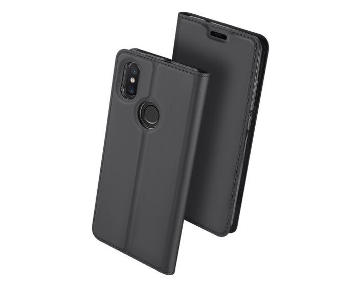 DUX DUCIS SkinPro Wallet Case Θήκη Πορτοφόλι με Stand - Grey (Xiaomi Mi8)