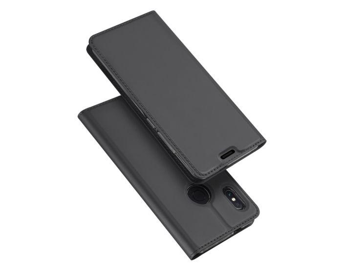 DUX DUCIS SkinPro Wallet Case Θήκη Πορτοφόλι με Δυνατότητα Stand - Gray (Xiaomi Redmi Note 5)